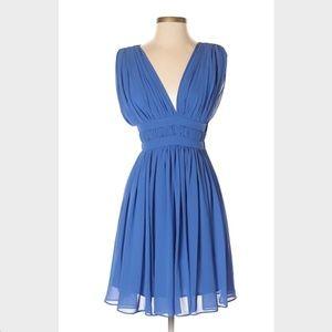 Reiss Cocktail Dress (v-neck, blue)
